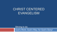 Christ Centered Evangelism - Ed Lacy